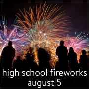Buttons - Youth - high school fireworks